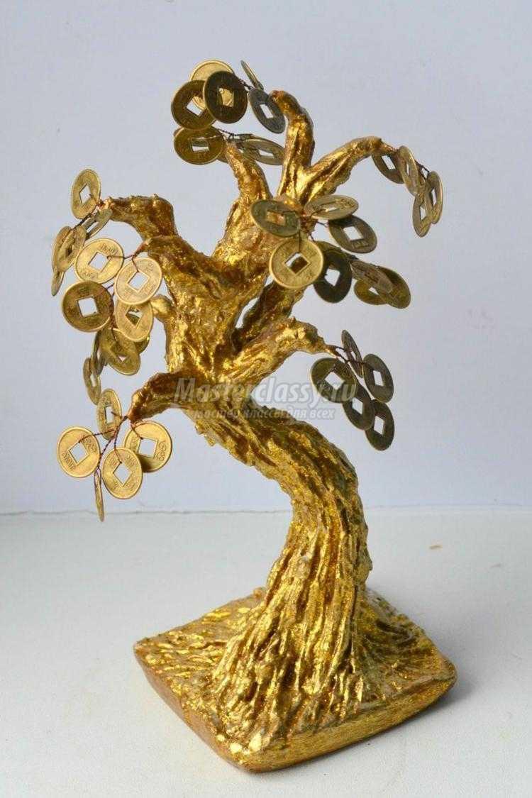 Мастер-класс. Золотое денежное дерево из декоративных монет