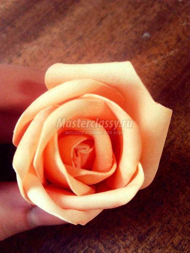Как сделать небольшую розу из бумаги