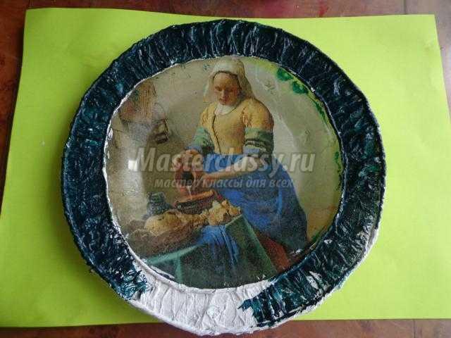 Обратный декупаж тарелки мастер класс с пошаговым фото