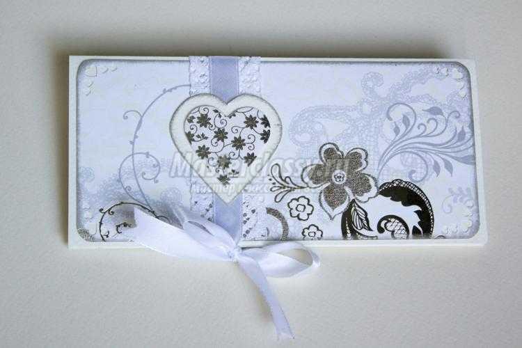 свадебная открытка-конверт своими руками