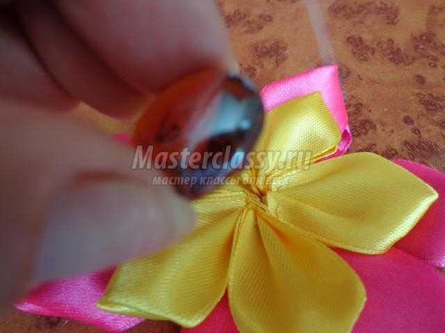 Ободок из цветов пошагово