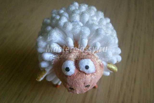 Елочную игрушку овечку своими руками
