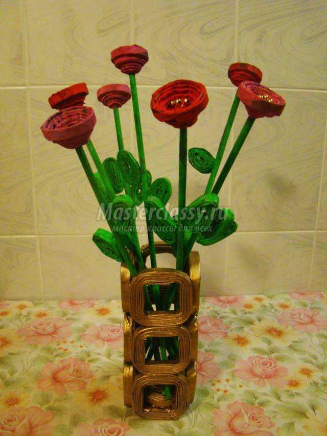 квиллинг фото ваза