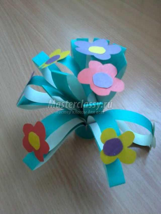 Букет цветов своими руками с детьми