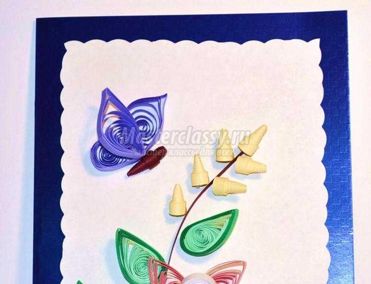 открытка в технике квиллинг ко Дню Матери