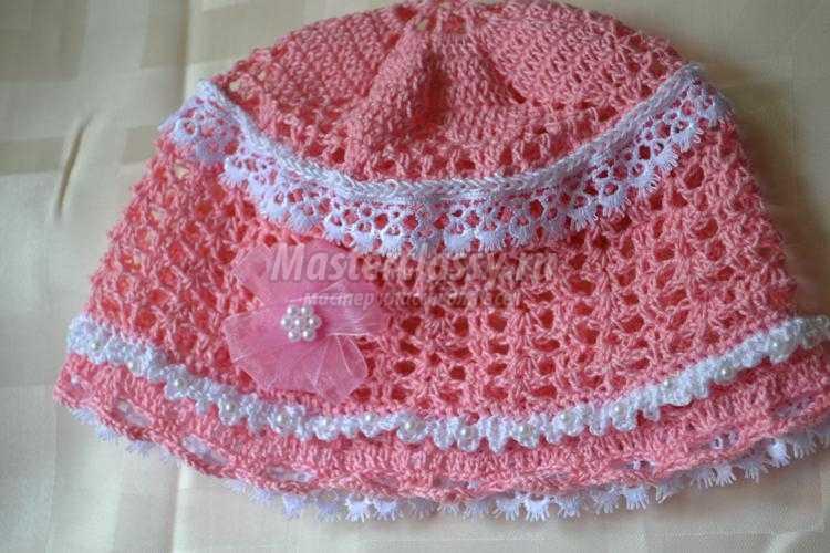 вязание крючком летней шапочки для девочки