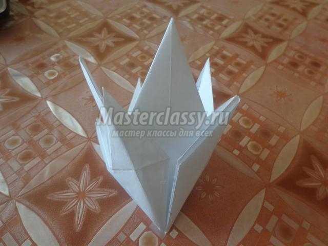 Мастер-класс подснежники оригами