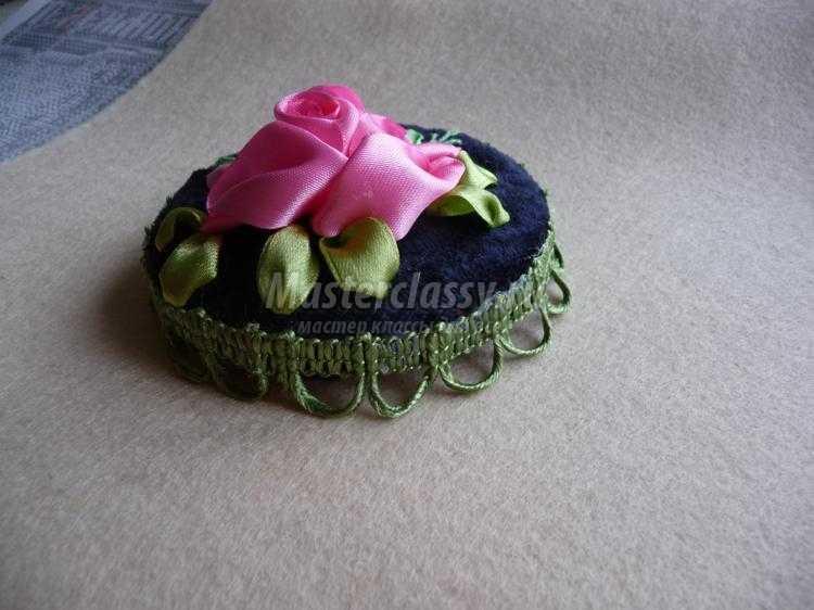 баночки с вышивкой лентами для мелочей