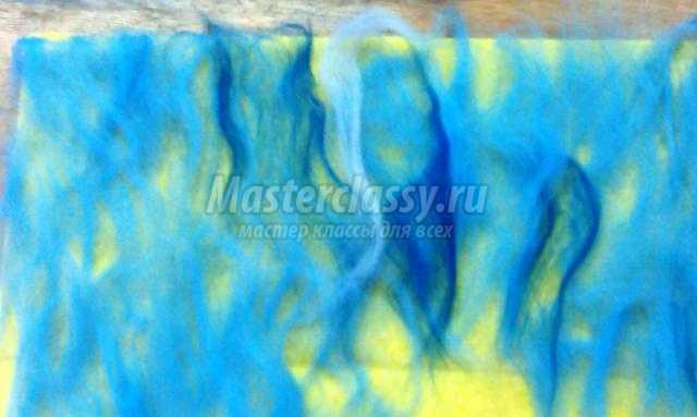 фелтинг. Картина в технике мокрого валяния из шерсти