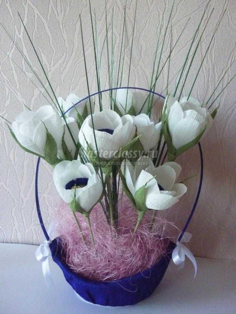 Цветы из гофрированной бумаги на свадьбу мастер класс