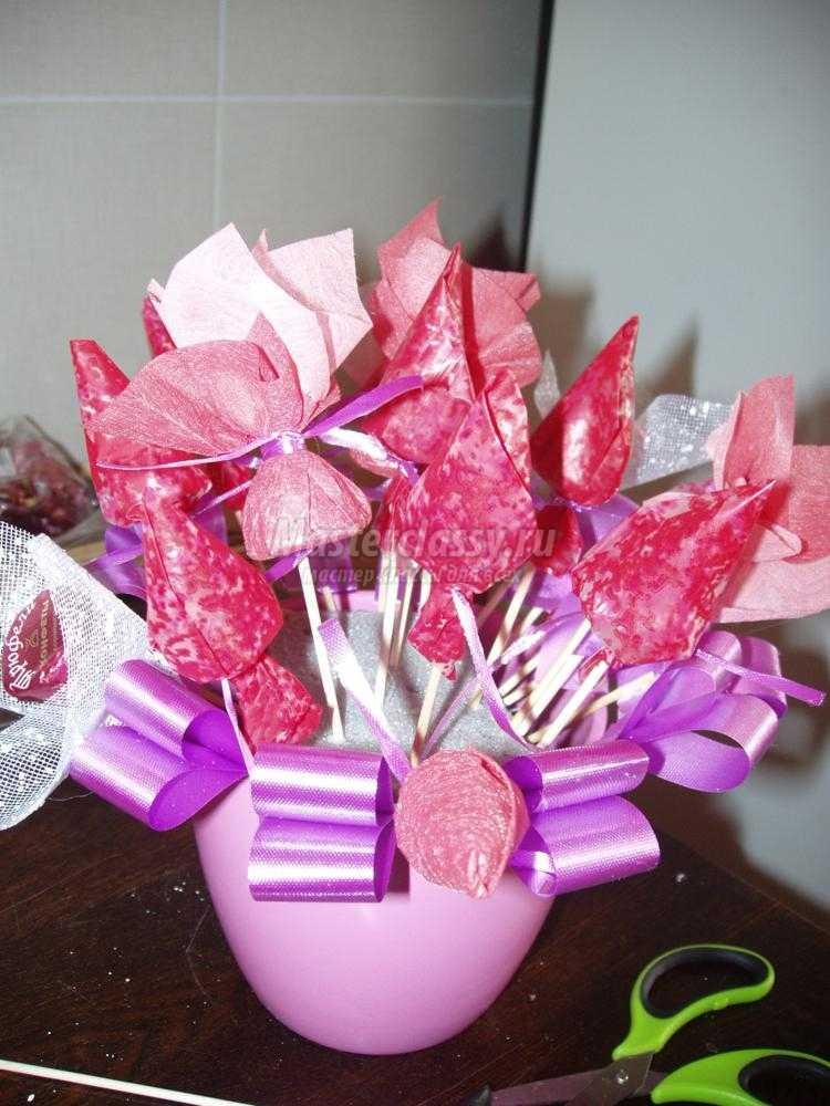 Мастер класс сладкие букеты из конфет