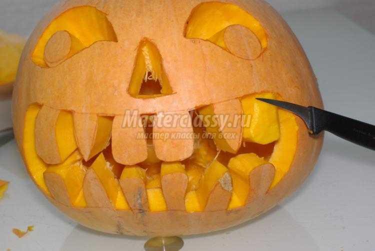 Фонарь из тыквы на хэллоуин своими