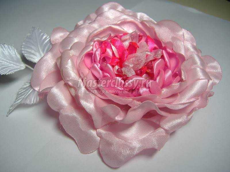 Роза из лент мастер класс с пошаговым