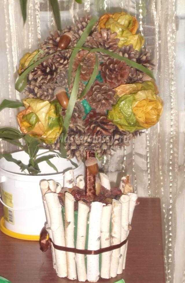 Топиарий из кленовых листьев пошагово143