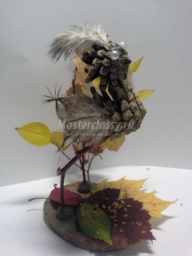 Поделки птички своими руками из природного материала