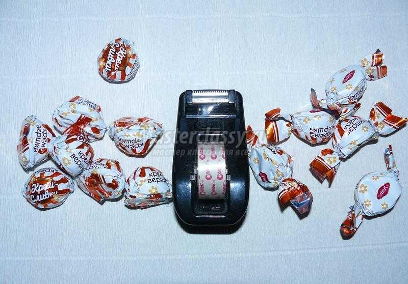 Букеты из конфет с крокусами мастер класс