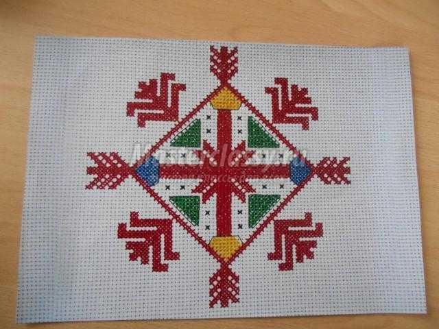 чувашская вышивка крестом