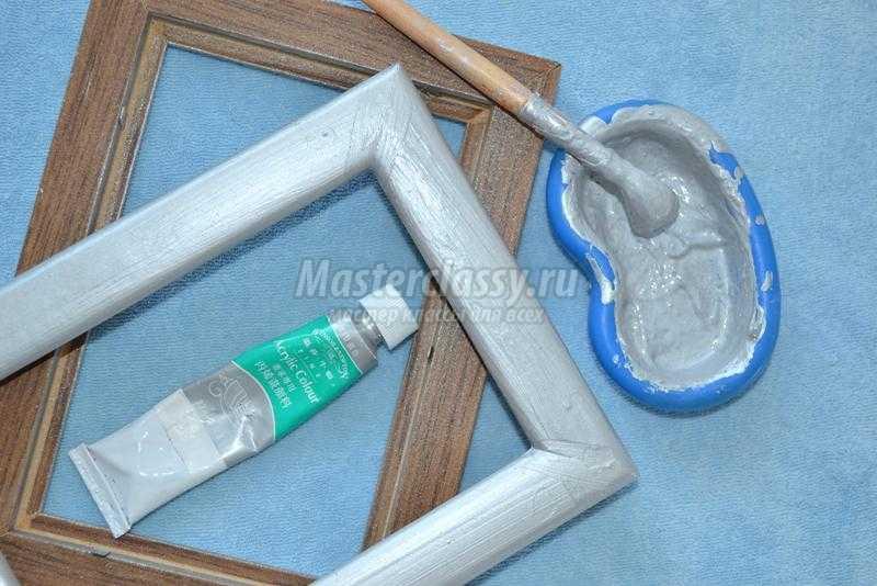Покрасить деревянную рамку для фото своими руками