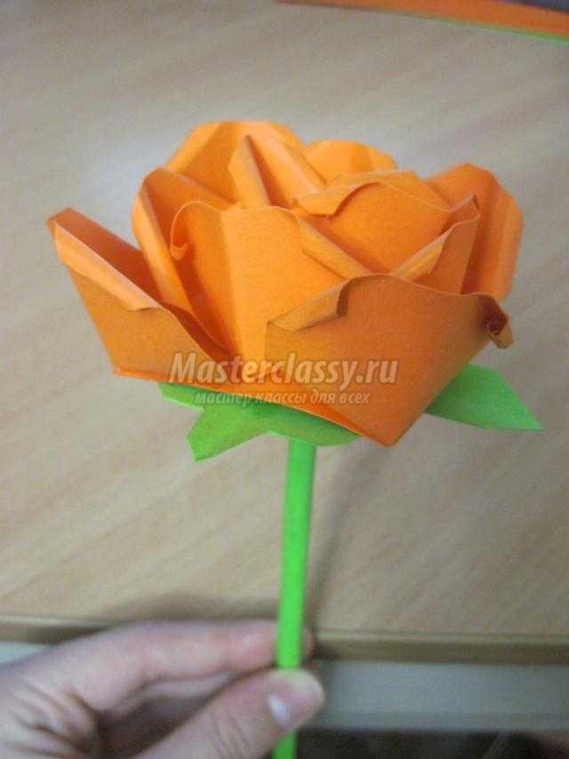 Букет из цветной бумаги своими руками розы