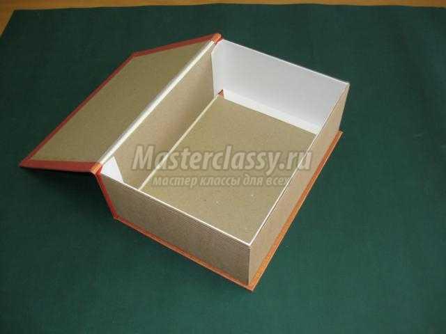 Подарочная коробка из картона в форме книги с откидной крышкой. Мастер-класс с пошаговыми фото