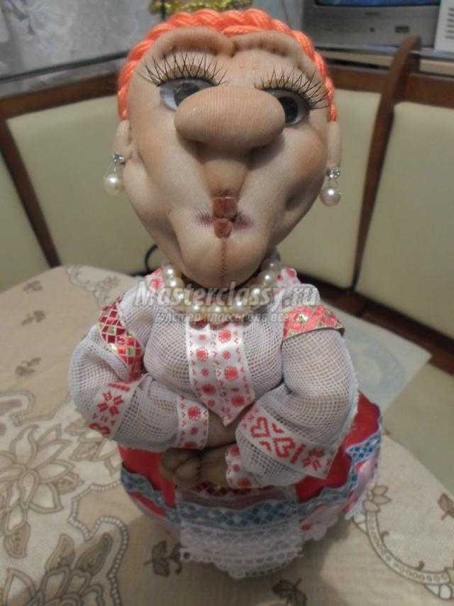 Куклы из капрона мастер класс с пошаговым