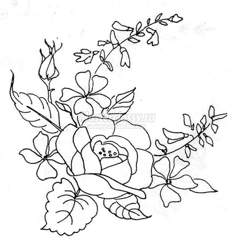 Рисунок для вышивки стежками