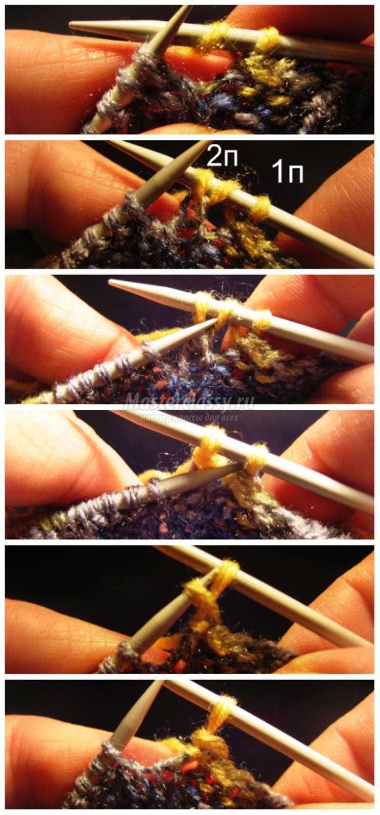 вязание красивой горловины спицами