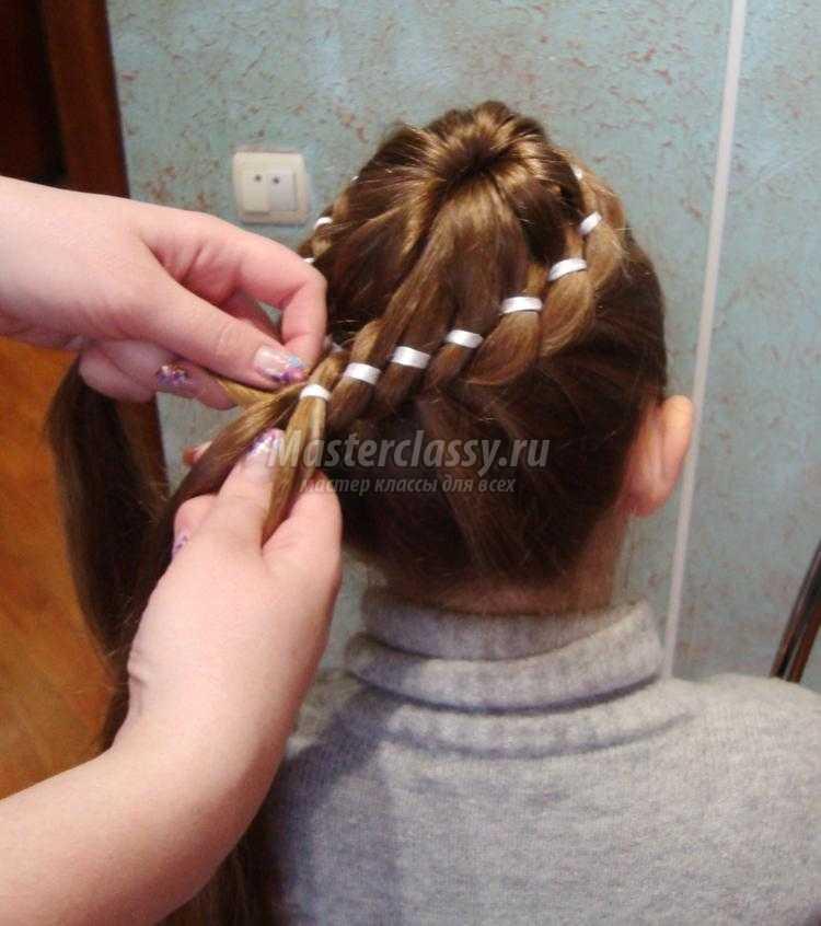 Косы с лентами для девочек пошаговое для начинающих