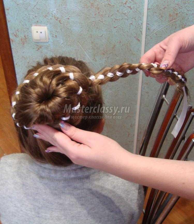 Плетение косичек с лентами мастер класс видео