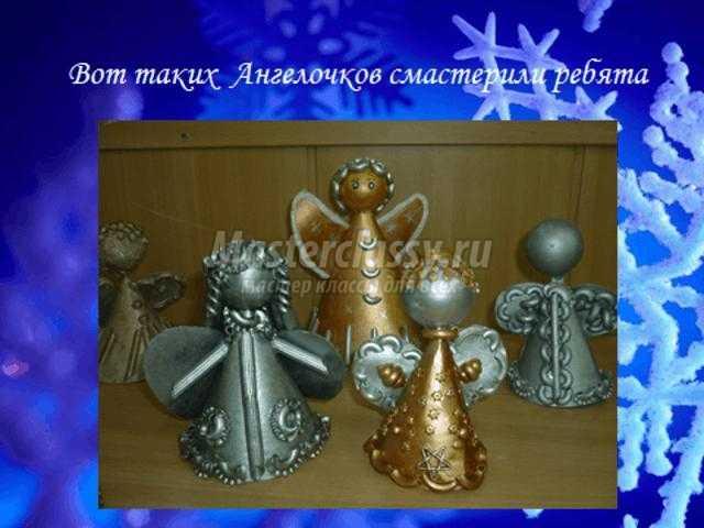 новогодняя игрушка. Рождественский ангел из макарон