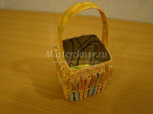 Корзинка-конфетница из тетра пака