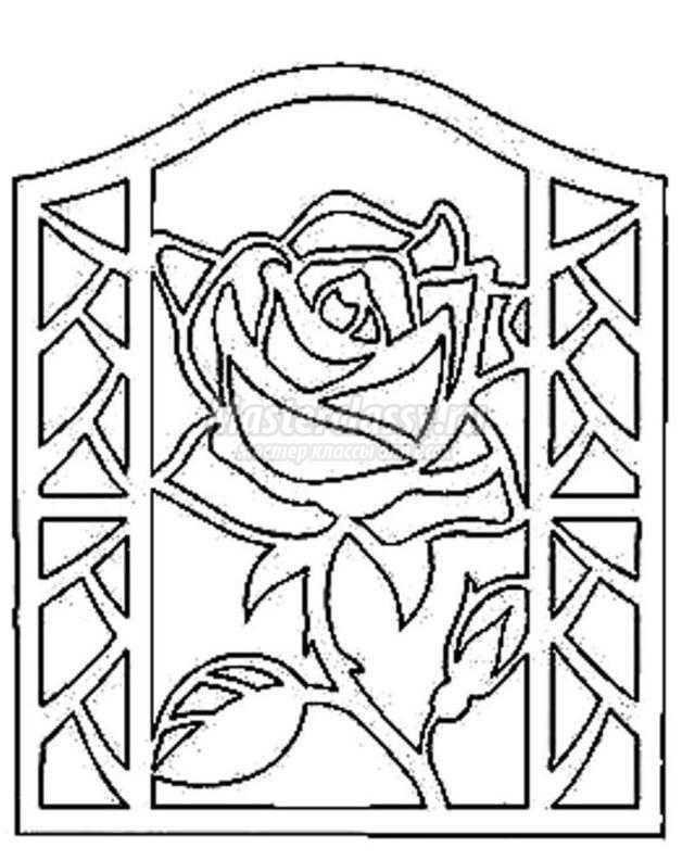 Ажурные открытки розы с днем рождения своими руками 14