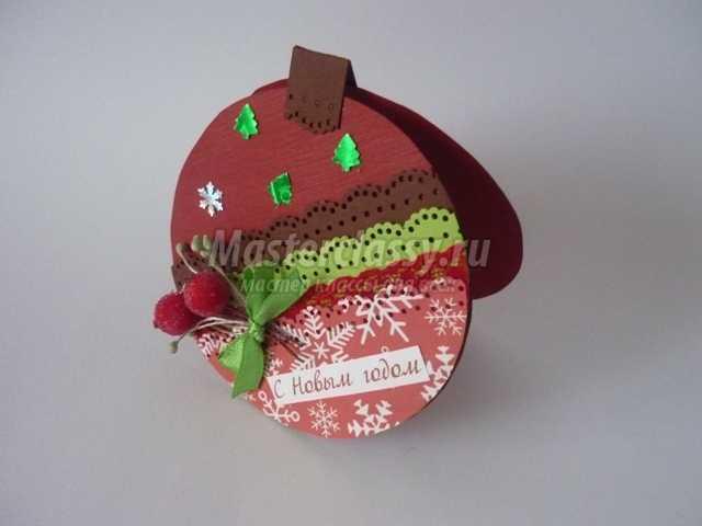 Открытки новогодние шарики своими руками