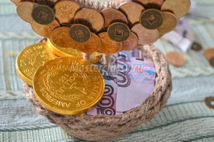 Как сделать денежную подкову своими руками из монет 238