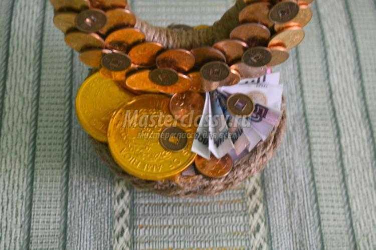 Как сделать денежную подкову своими руками из монет 692