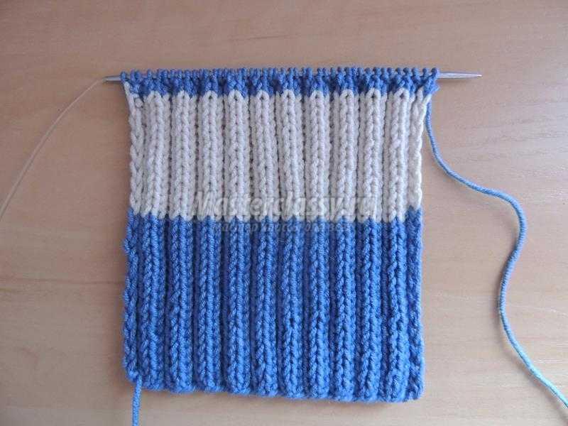 шарф связанный спицами