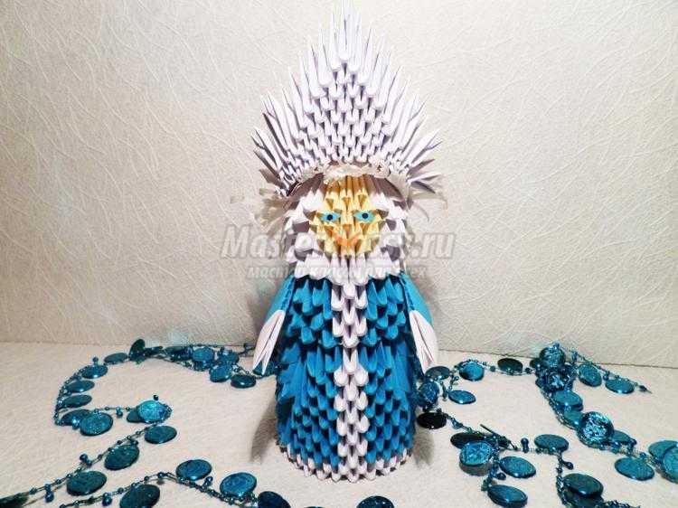 Модульное оригами снегурочка пошаговое