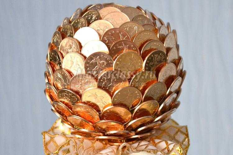 Топиарий с монетами своими руками фото
