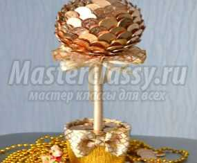 Топиарий  из монет мастер класс пошагово 55