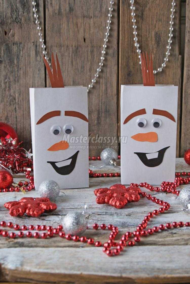шоколадный снеговик своими руками
