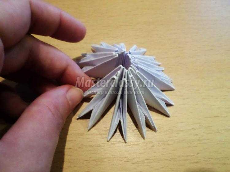Модульная оригами с пошаговым