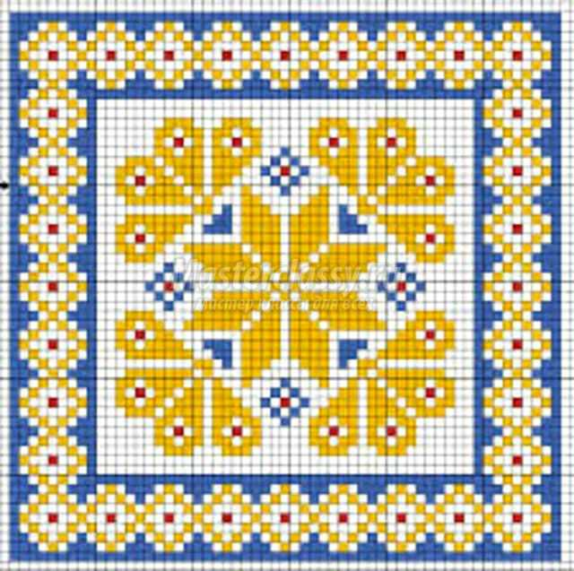 ковровая вышивка лежанка для