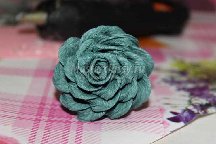 Как делать розу своими руками из салфеток фото 375