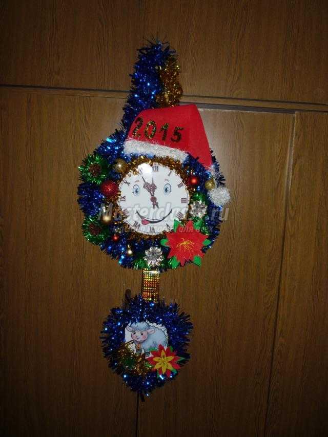 Часы новогодние из картона своими руками