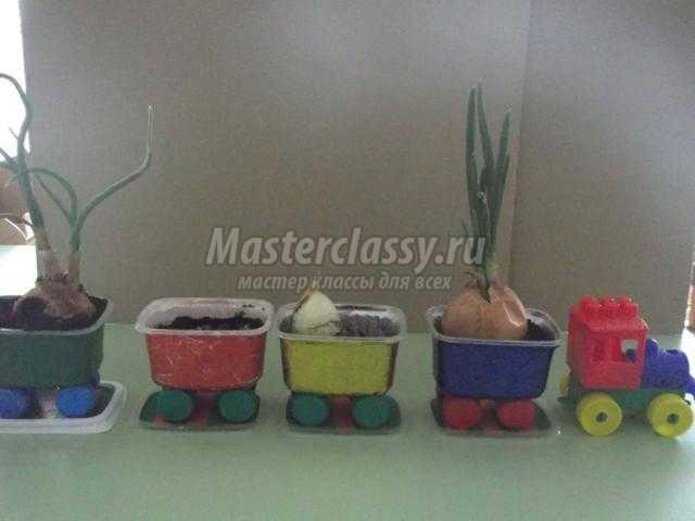 поделки для детского сада. Витаминный паровозик