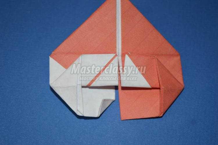Двухцветное оригами