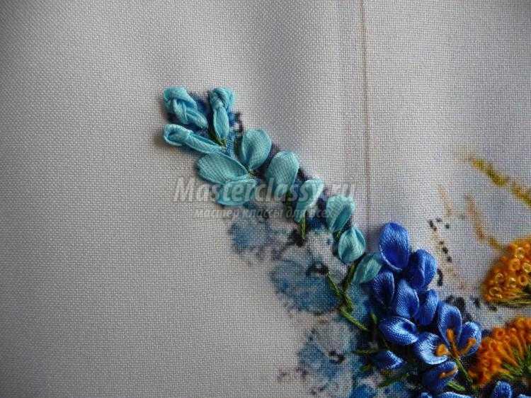 Мастер класс вышивки французского узелка лентами