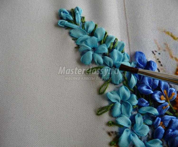 Полевые цветы из лент мастер класс