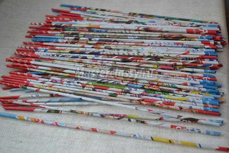 Газетные трубочки