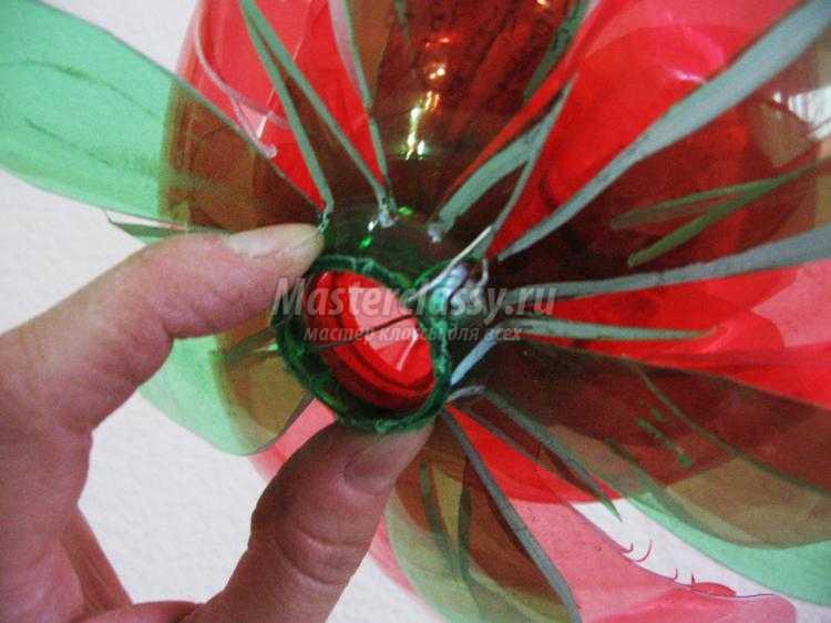 Изготовление цветов из пластиковых бутылок мастер класс